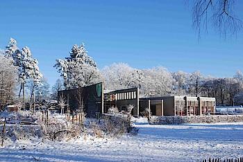 Sonniger Wintertag am Haus der Nachhaltigkeit